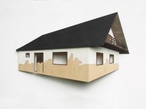 Haus mit Balkon Din A4